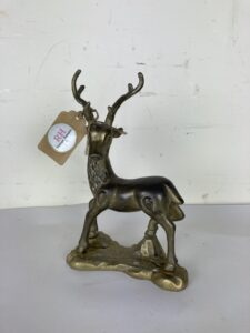 Vintage Handmade Solid Brass Stag / Deer Figurine – 25 cm Height
