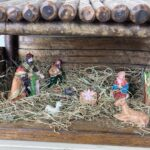 Complete Hand-crafted Wooden Christmas Stable Nativity Scene with Figurines