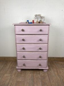 Little Girl's Pine Chest of Drawers  H101cm x W67cm